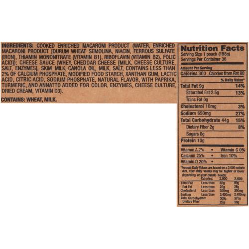 KRAFT Single Serve Frozen Mac & Cheese, 7 oz. Pouches (Pack of 36)