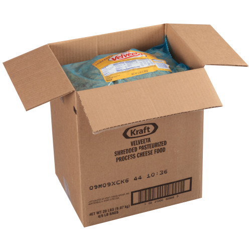 VELVEETA American Shredded Cheese, 5 Lb. Pouch (Pack of 4)