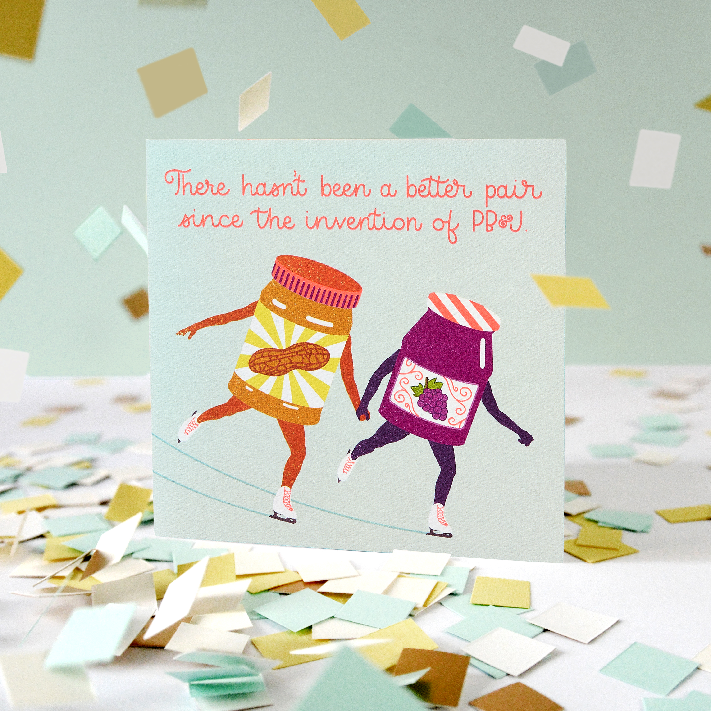 PB & J Greeting Card for Couple - Engagement, Wedding, Anniversary image