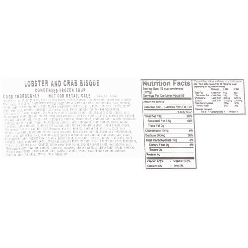 HEINZ CHEF FRANCISCO Lobster Crab Bisque Soup, 4 lb. Tub (Pack of 4)