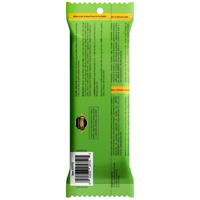 Back-Image showing Crunch Sticks Whole Grains & Honey Flavor