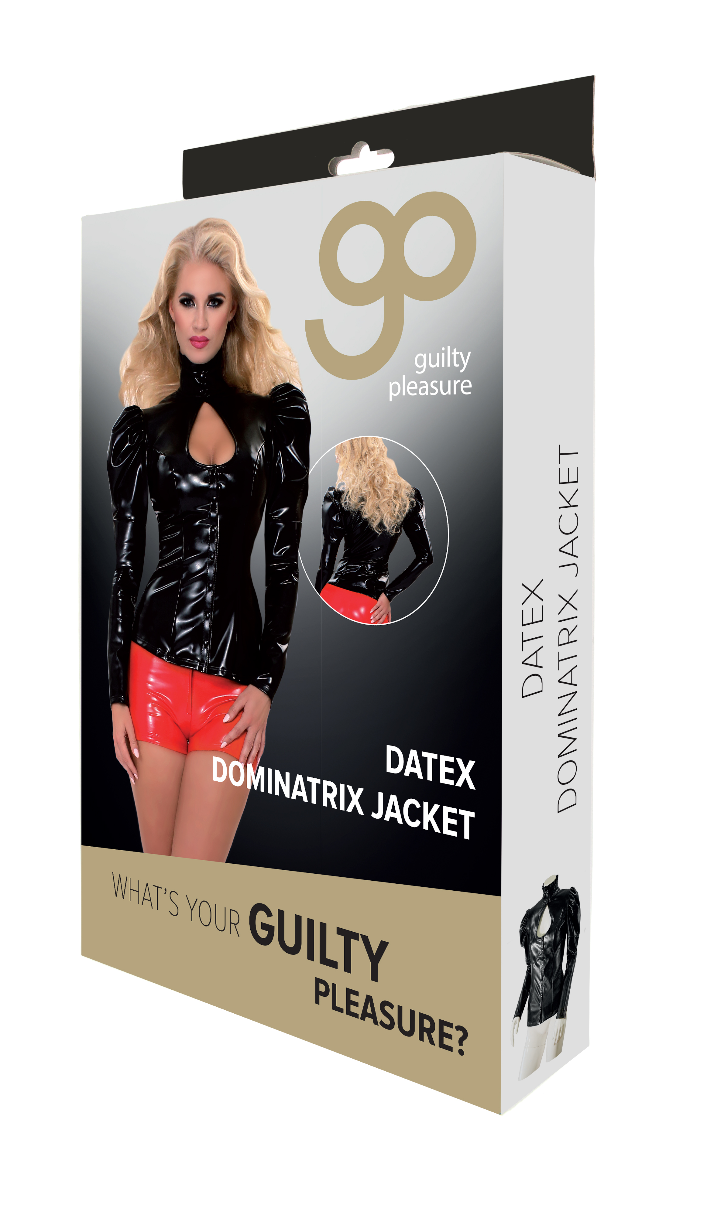 Guilty Pleasure - Datex Dominatrix Jacket - S - Black
