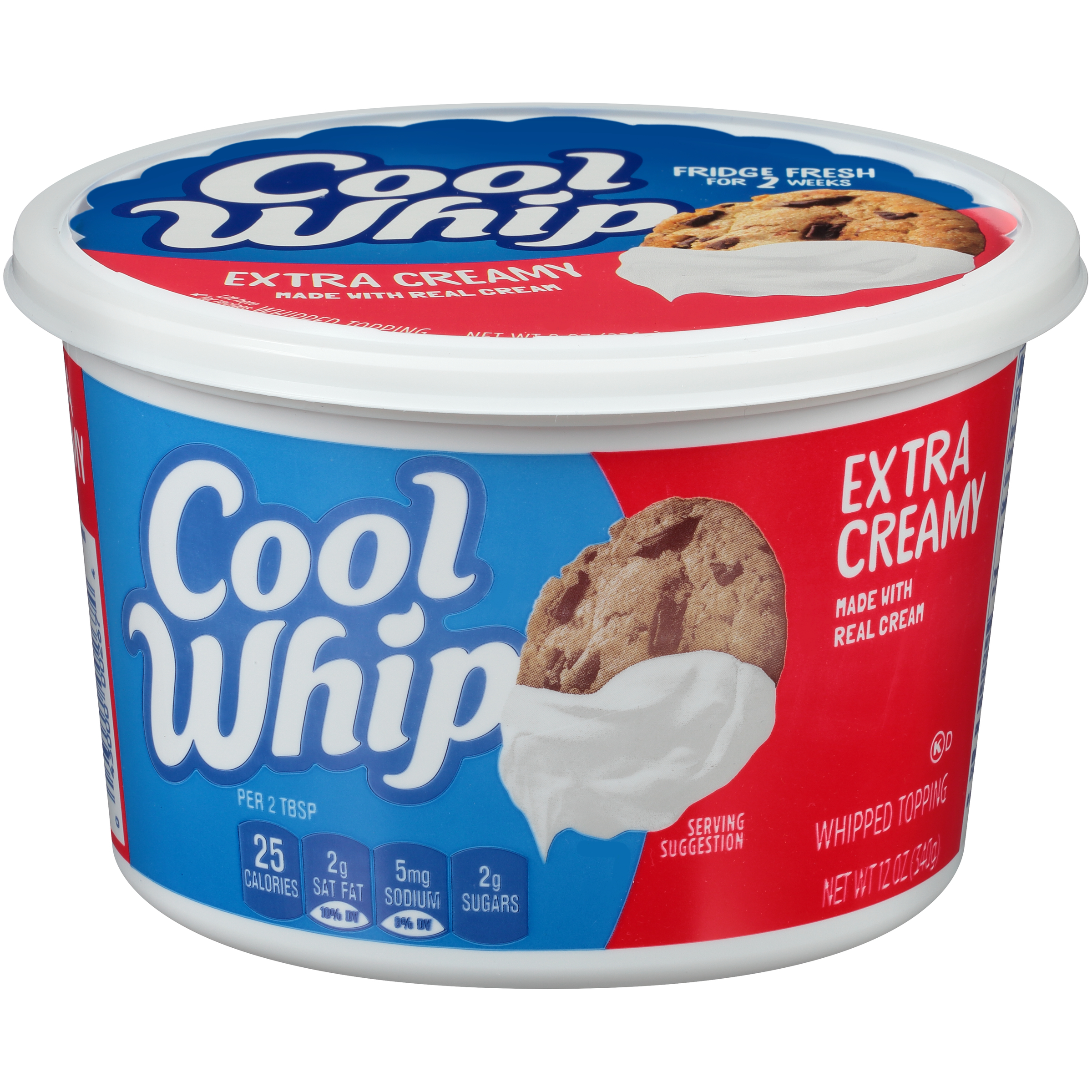 Cool Whip Extra Creamy Whipped Topping 12 oz Tub - Kraft ...