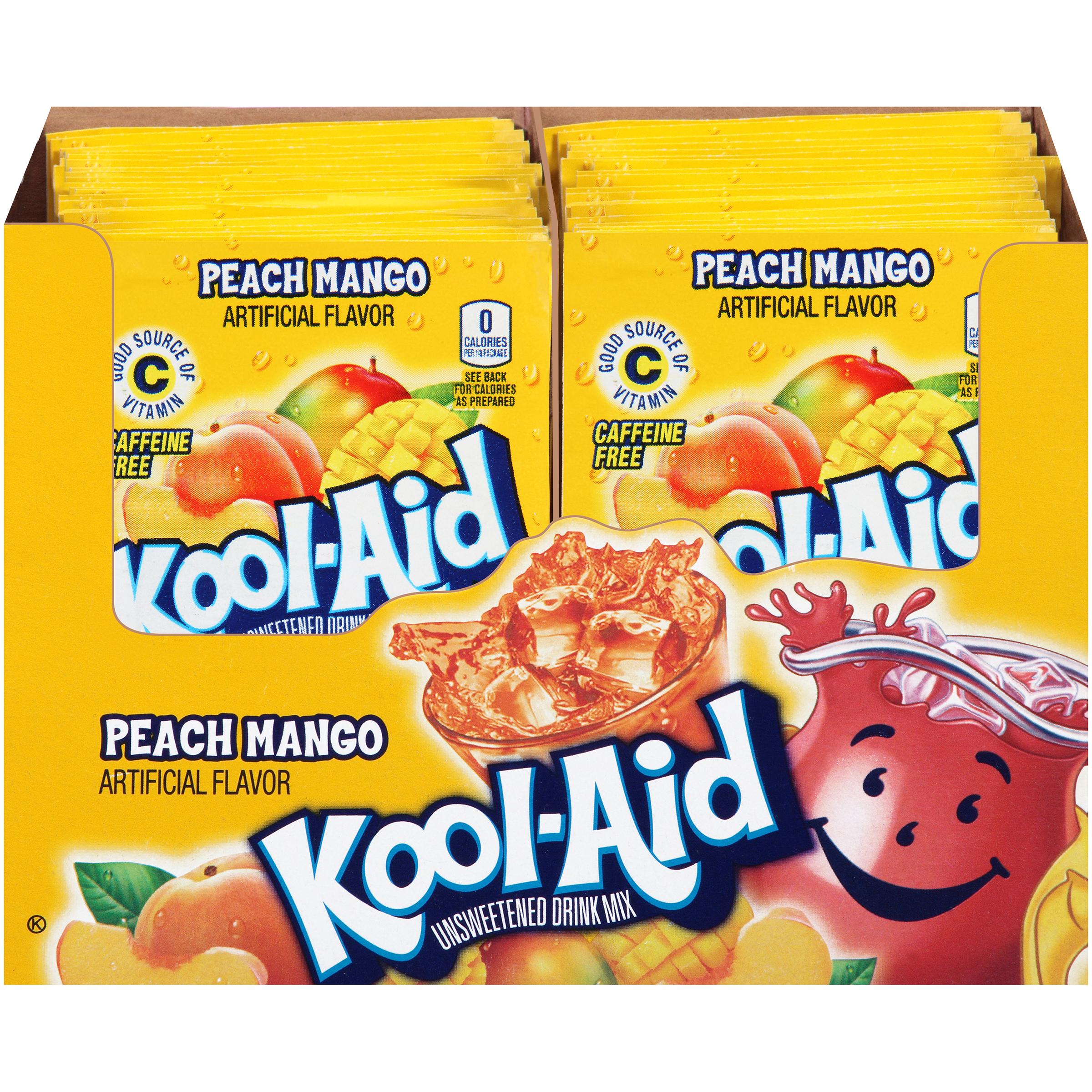 KOOL-AID Peach Mango Drink Mix 0.14 oz Packet image