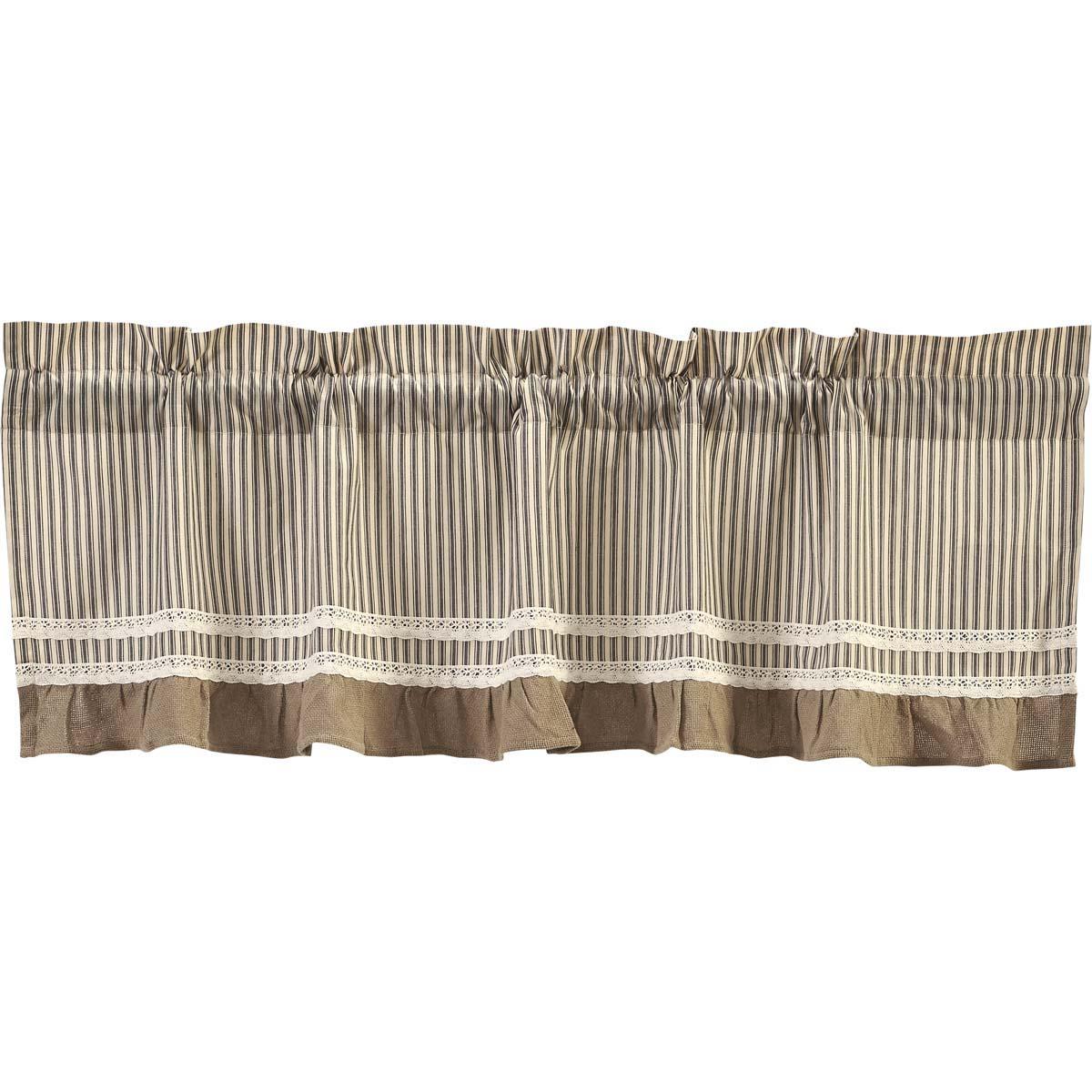 Kendra Stripe Black Valance 19x60