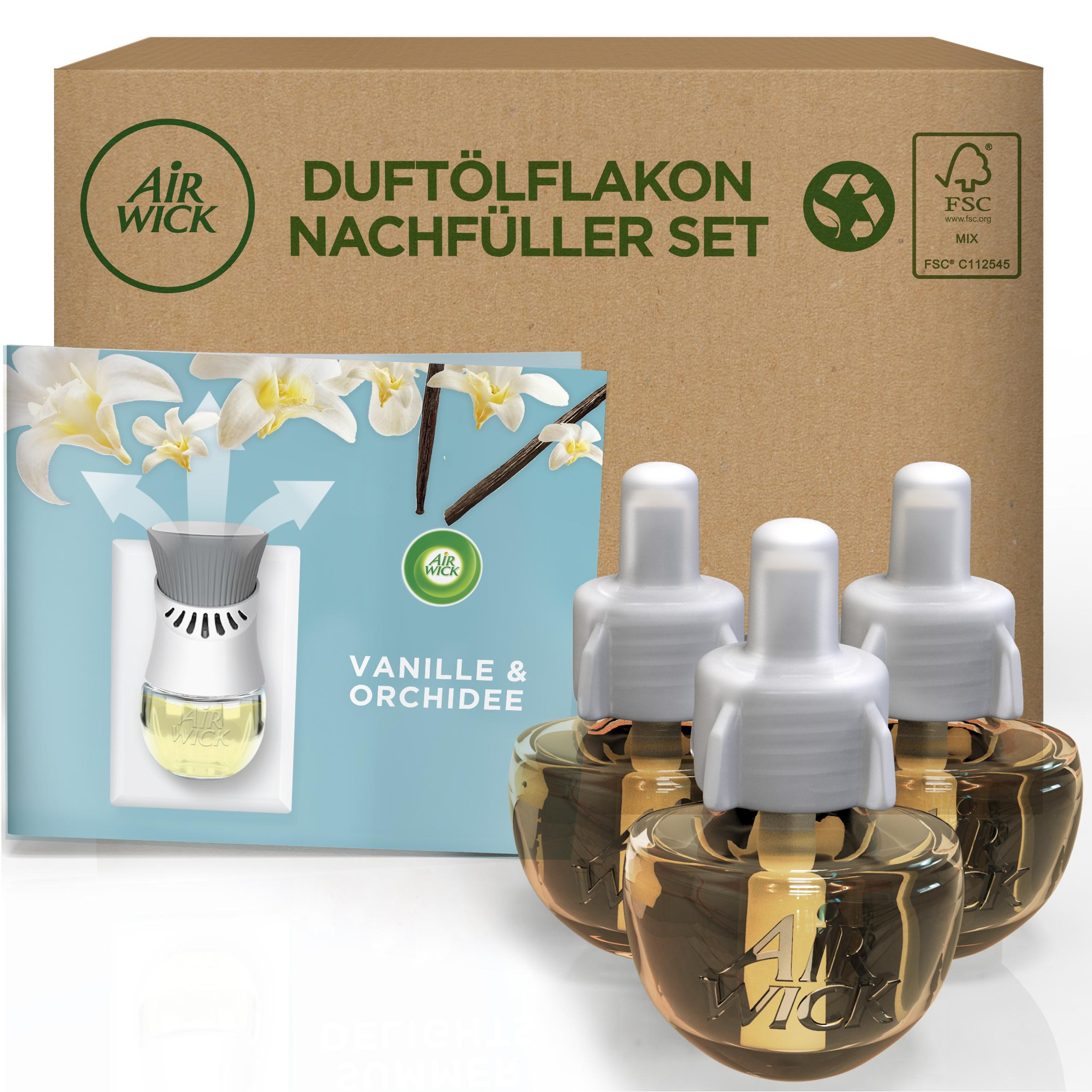 Air Wick Duftölflakon eCom Nachfüller-Set Vanille & Orchidee