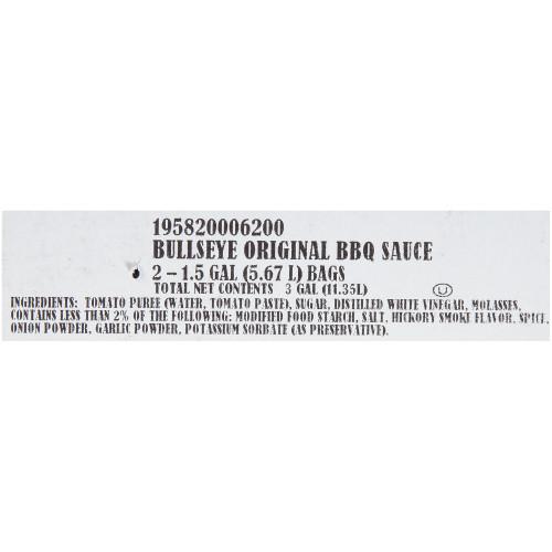 BULL'S-EYE Barbecue Sauce, 1.5 gal. Dispenser Pack (Pack of 2)