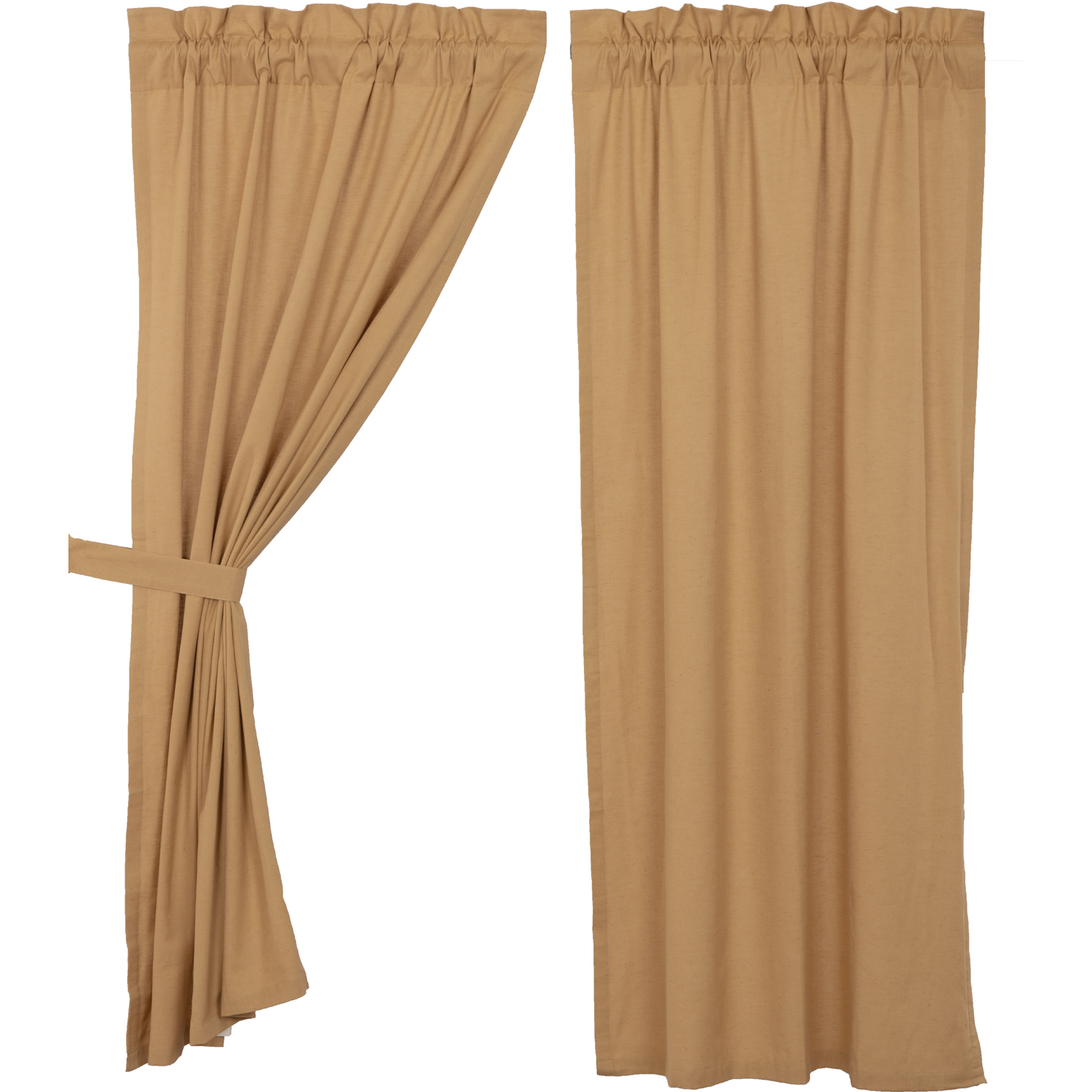 Simple Life Flax Khaki Short Panel Set of 2 63x36