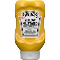 Heinz Yellow Mustard, 14 oz Bottle image