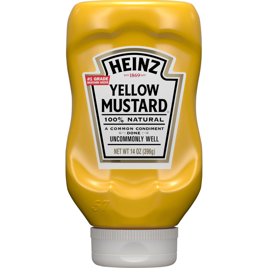 Heinz Yellow Mustard, 14 oz Bottle image