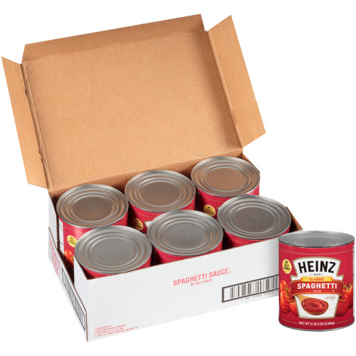 HEINZ No Salt Added Spaghetti Sauce, 104 oz. Can (Pack of 6)