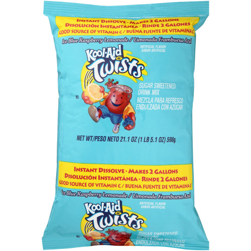 KOOL-AID Blue Raspberry Lemonade Powdered Drink Mix, 21.1 oz. Pouch (Pack of 15)
