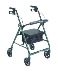 4 Wheel Rollator, McKesson, 32 to 37 Inch Green Folding Aluminum Frame 32 to 37 Inch, 146-R726GR - EACH