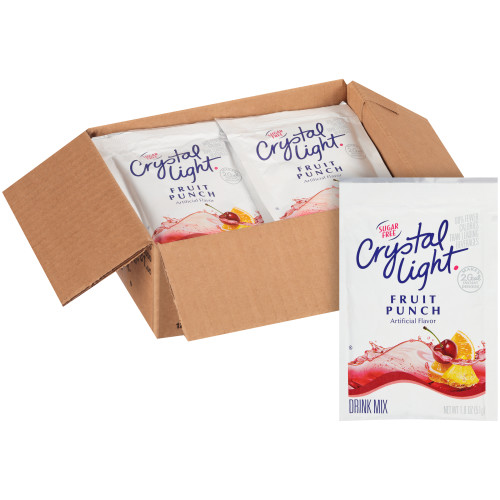 CRYSTAL LIGHT Single Serve Sugar-Free Fruit Punch Powdered Mix, 1.8 oz. Packet (Pack of 12)