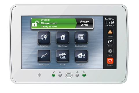 White Hardwired Touch Screen Keypad Wave Electronics