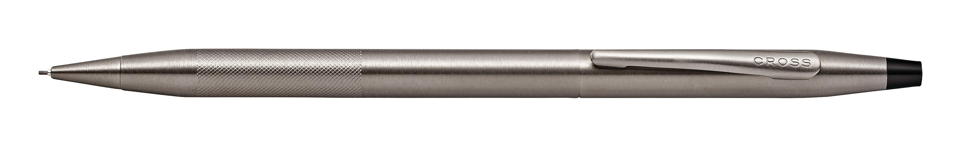 Classic Century Titanium Gray PVD 0.7MM Pencil with Micro-knurl Detail