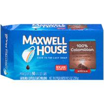 Maxwell House 100% Colombian Ground Coffee 10.5 oz Brick