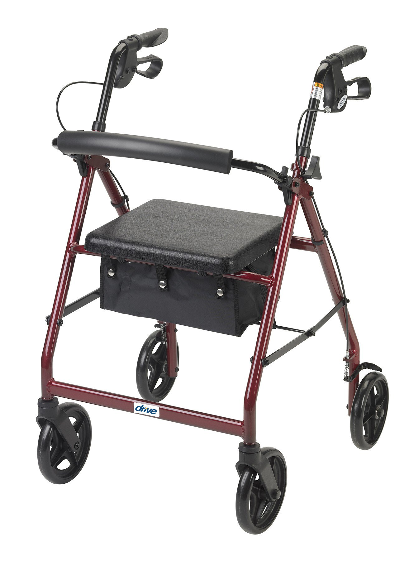 4 Wheel Rollator drive Blue Adjustable Height Aluminum Frame, Drive R728BL - EACH