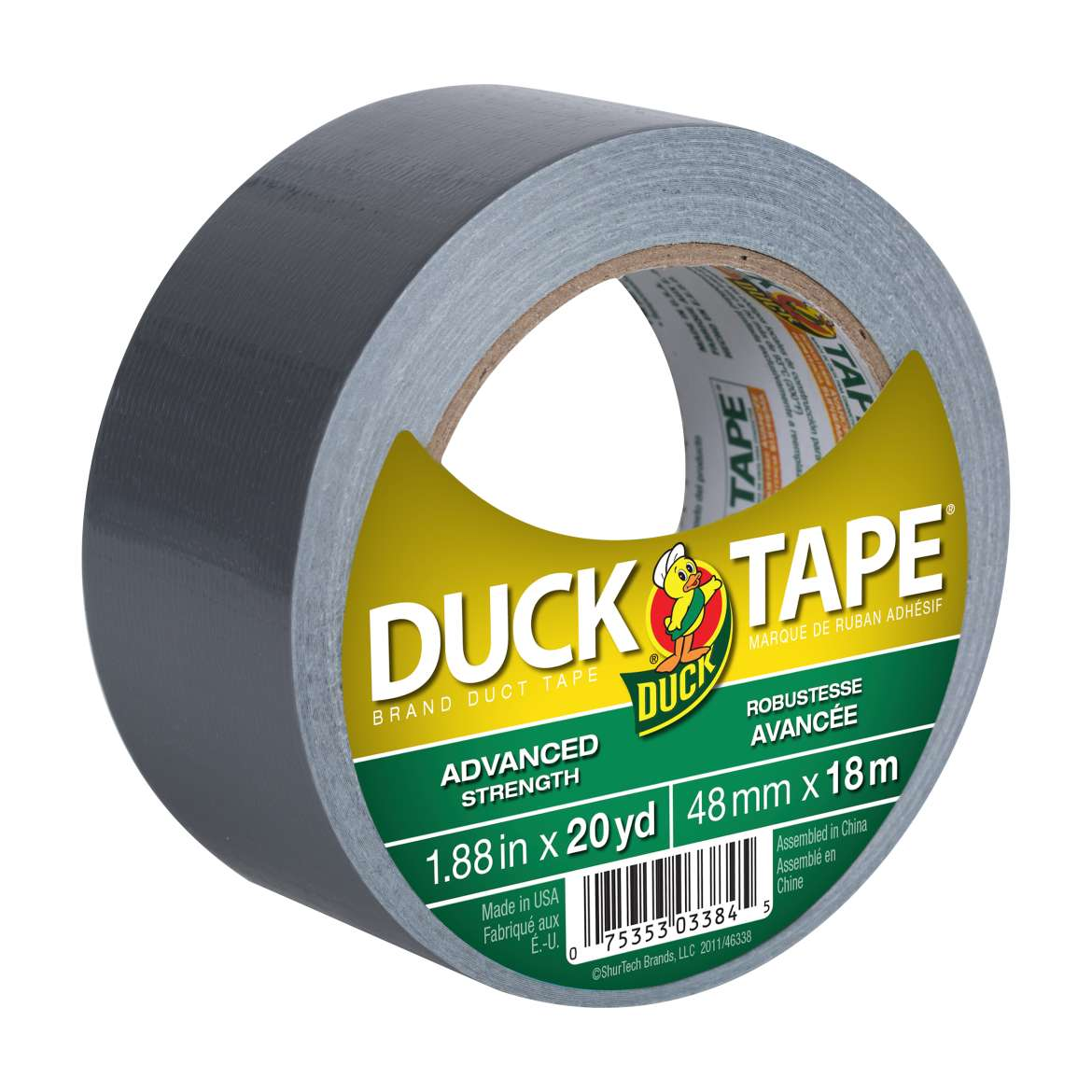 Advanced Strength Duck Tape® Brand Duct Tape - Silver, 1.88 in. x 20 yd. Image