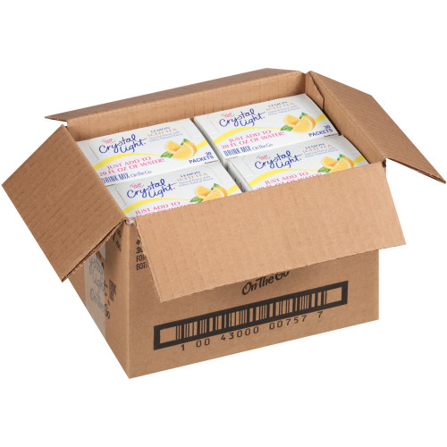 CRYSTAL LIGHT Single Serve Sugar-Free Iced Tea On-the-Go Mix, 30-0.8 oz. Packets (Pack of 4 Boxes)