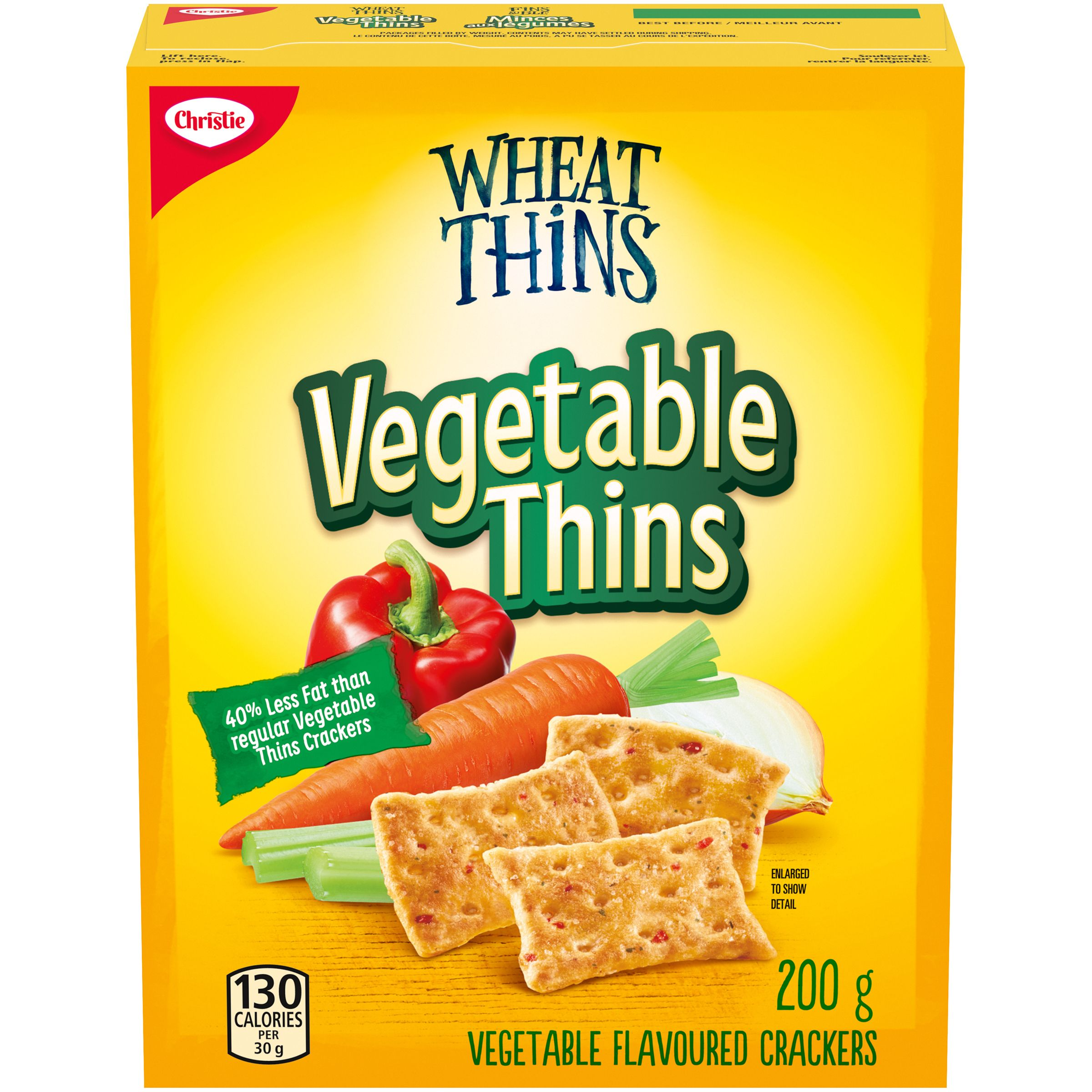 Wheat Thins Vegetable 40% Less Fat Crackers 200 g