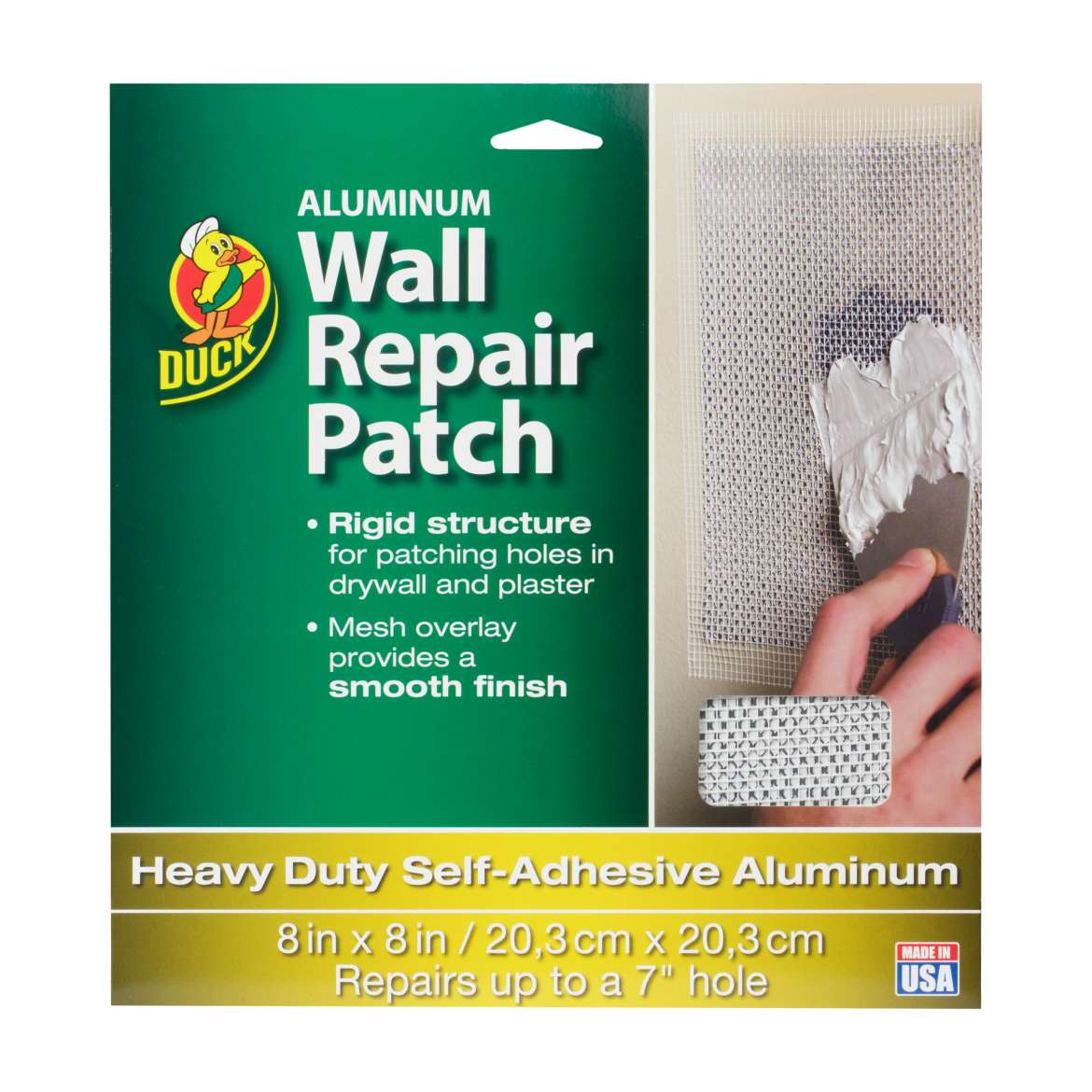 Duck® Brand Aluminum Wall Repair Patch - 8 in. x 8 in. Image
