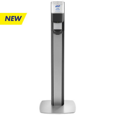 PURELL® MESSENGER™ ES6 Silver Panel Floor Stand with Dispenser