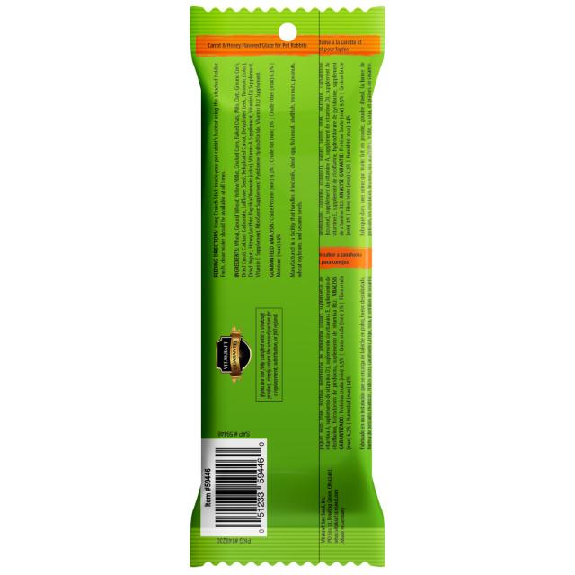 Back-Image showing Crunch Sticks Carrot & Honey Flavored Glaze
