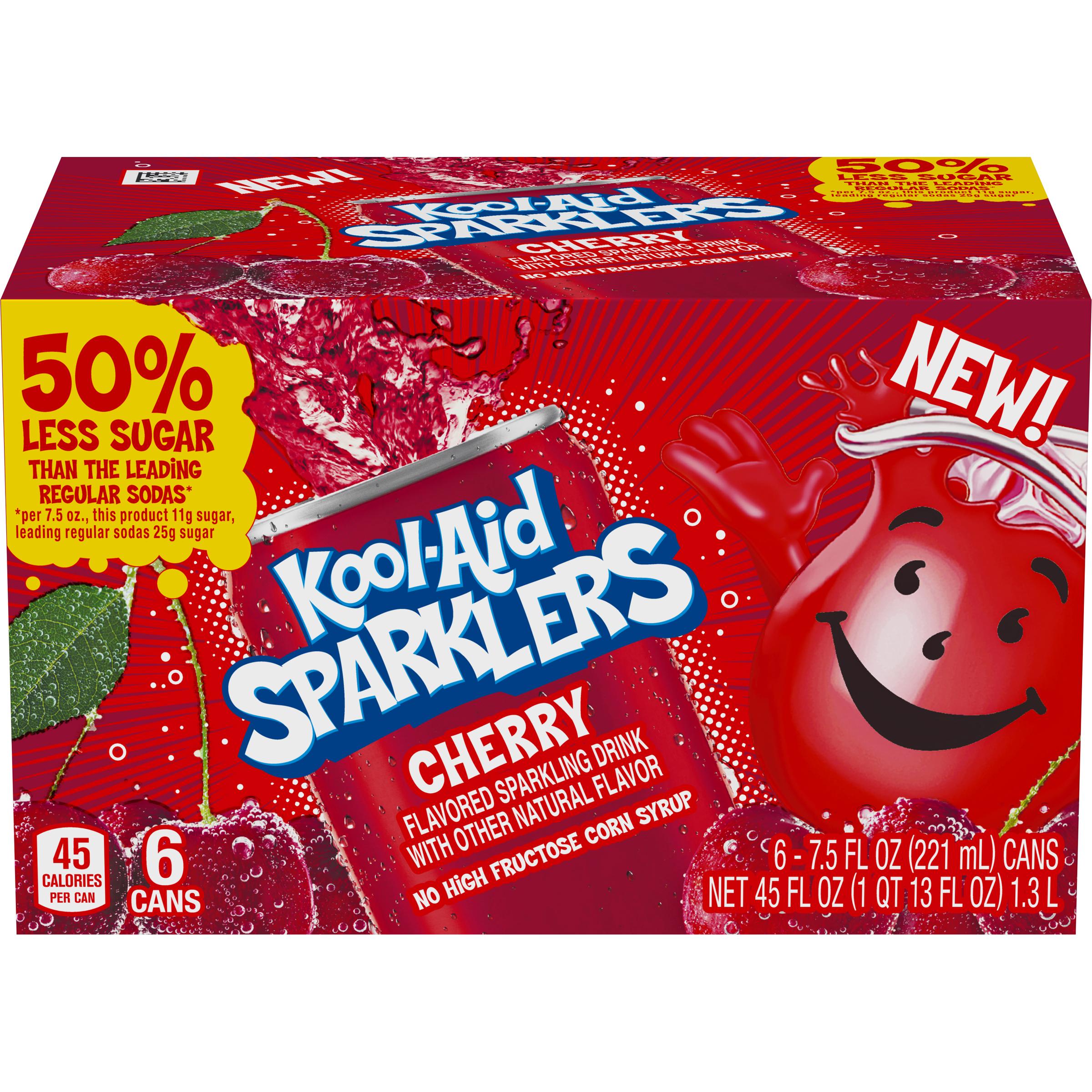 Kool Aid Sparklers Kool Aid Sparklers Cherry Sparkling Drink  7.5 oz Can 6 pack image