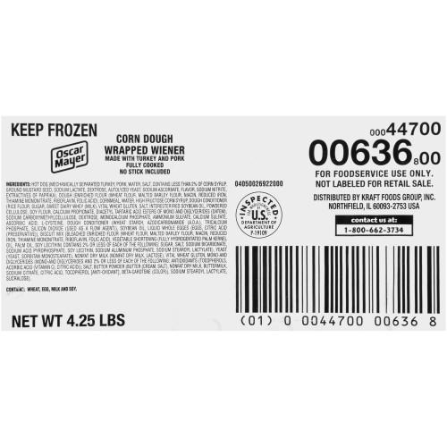 OSCAR MAYER Corn Dogs (20 Count, 4.25 lb. Case)