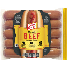 Oscar Mayer Classic Beef Uncured Franks Pack, 10 count