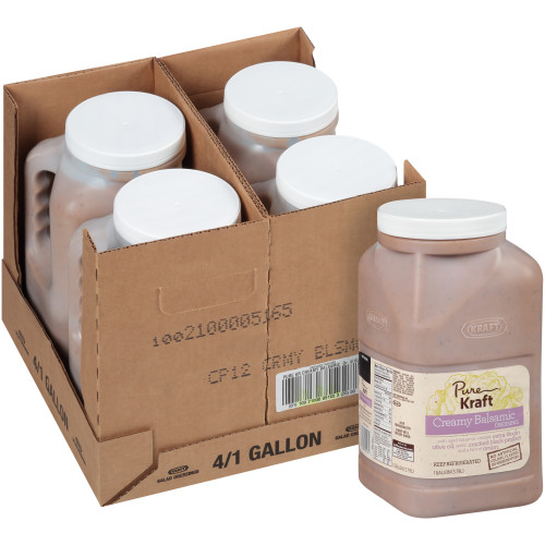 KRAFT Pure Creamy Balsamic Dressing, 1 gal. Jugs (Pack of 4)