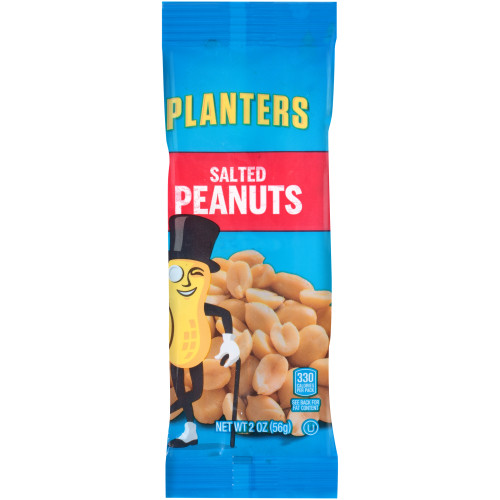 Planters Salted Peanuts, 144 ct Casepack, 2 oz Packs