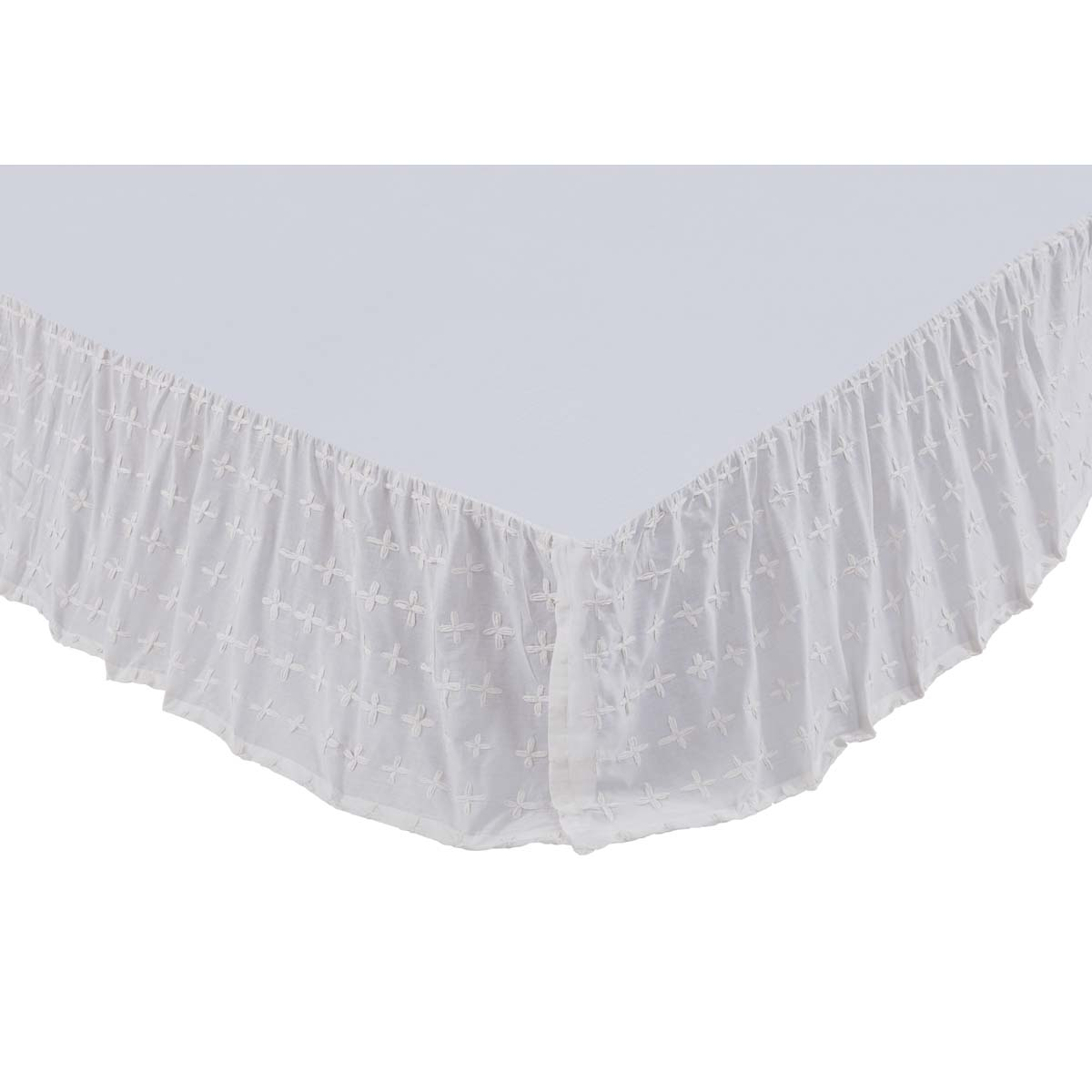 Willow White King Bed Skirt 78x80x16