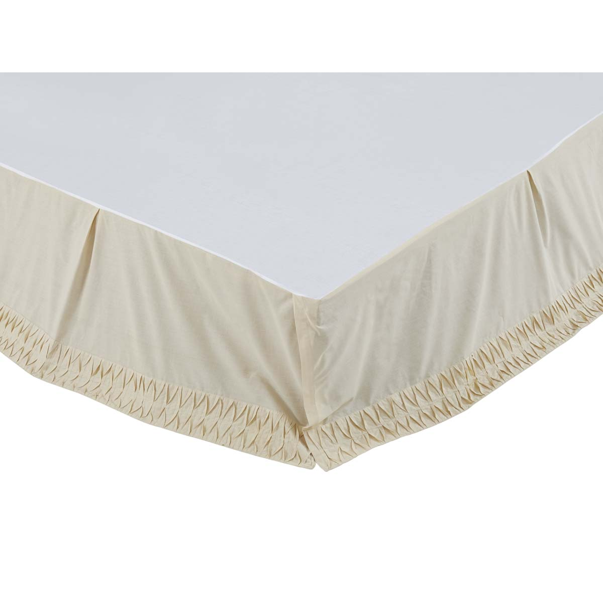Adelia Creme King Bed Skirt 78x80x16