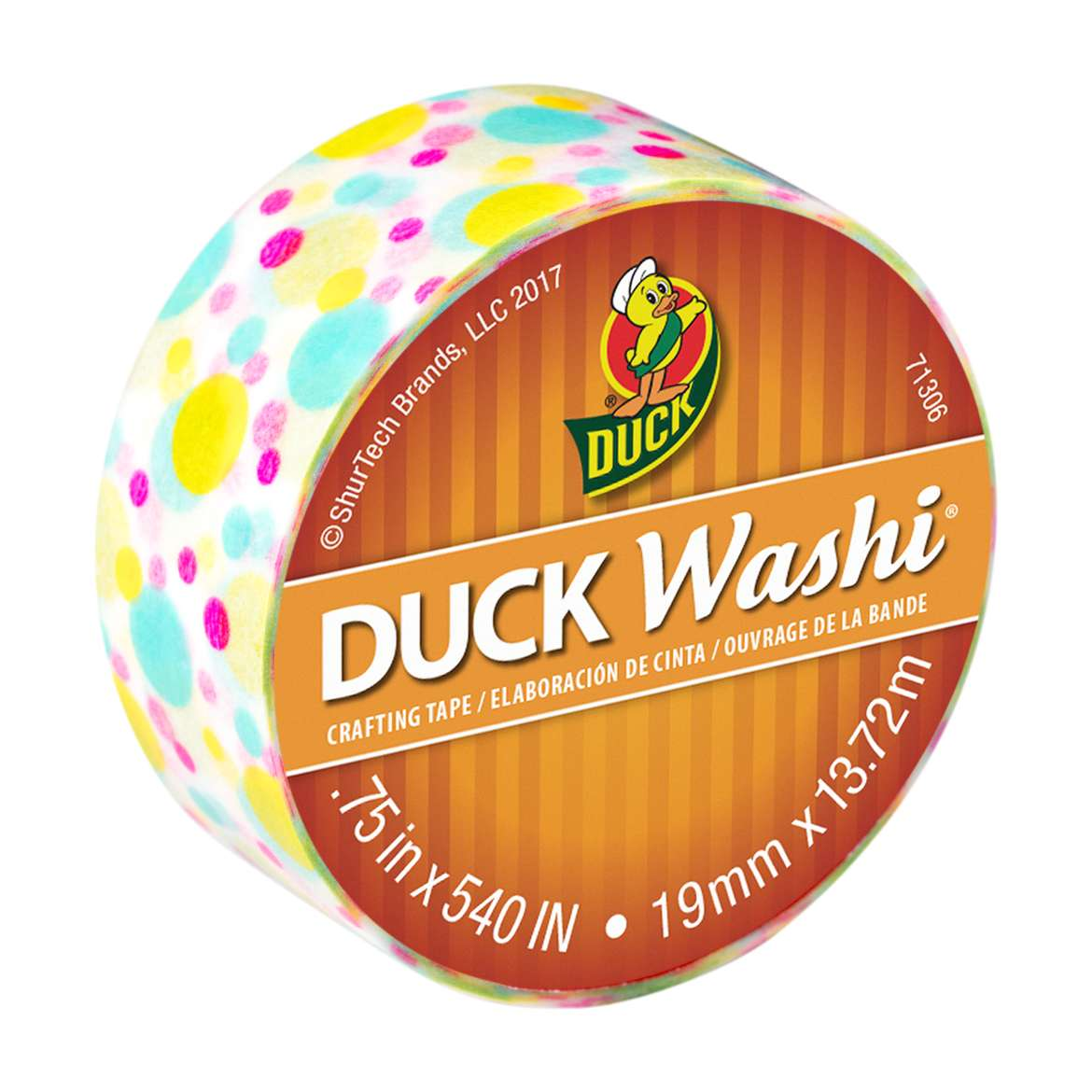 Duck Washi® Crafting Tape - Multi Dot, 0.75 in. X 15 yd. Image