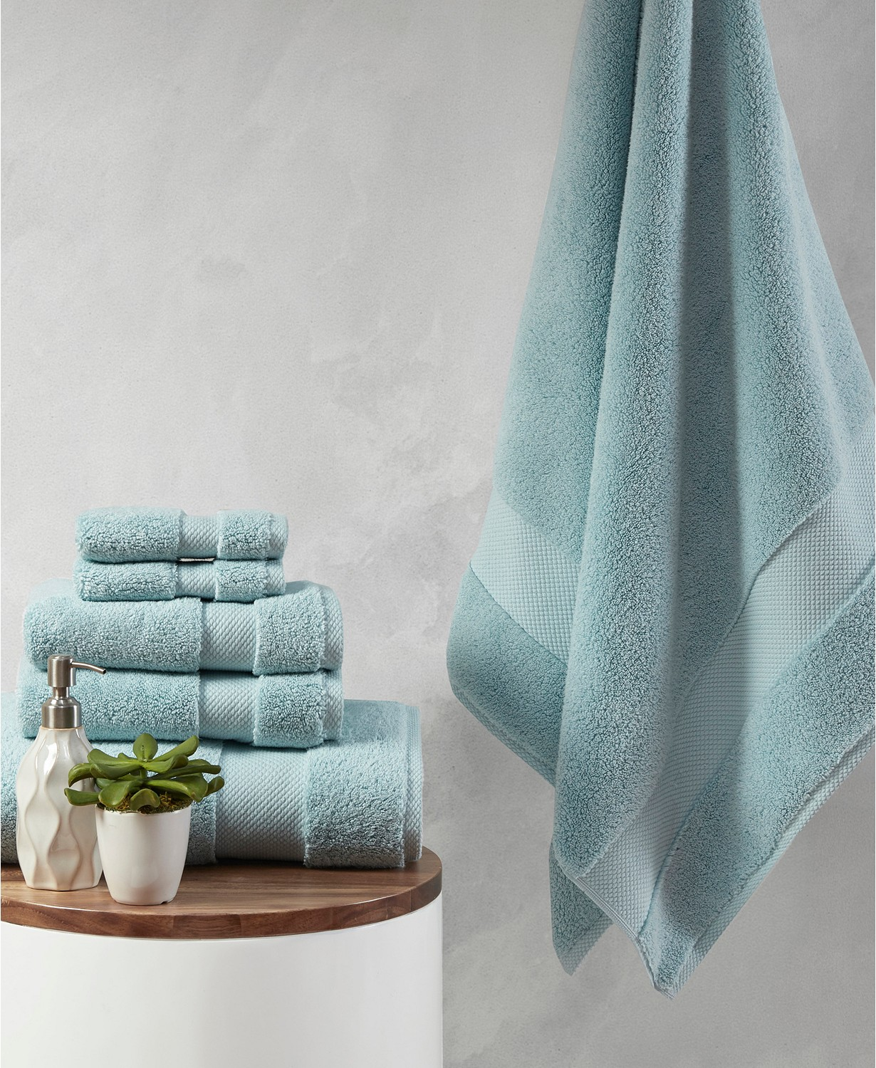 6 piece splendor cotton bath towel set