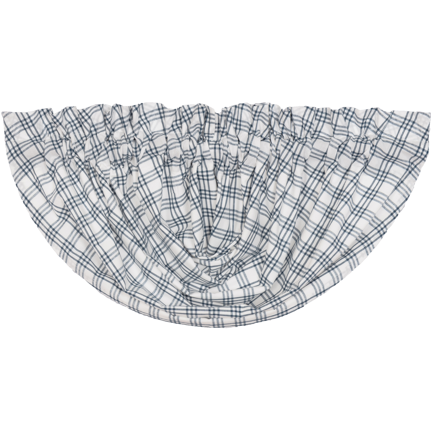 Sawyer Mill Blue Plaid Balloon Valance 15x60