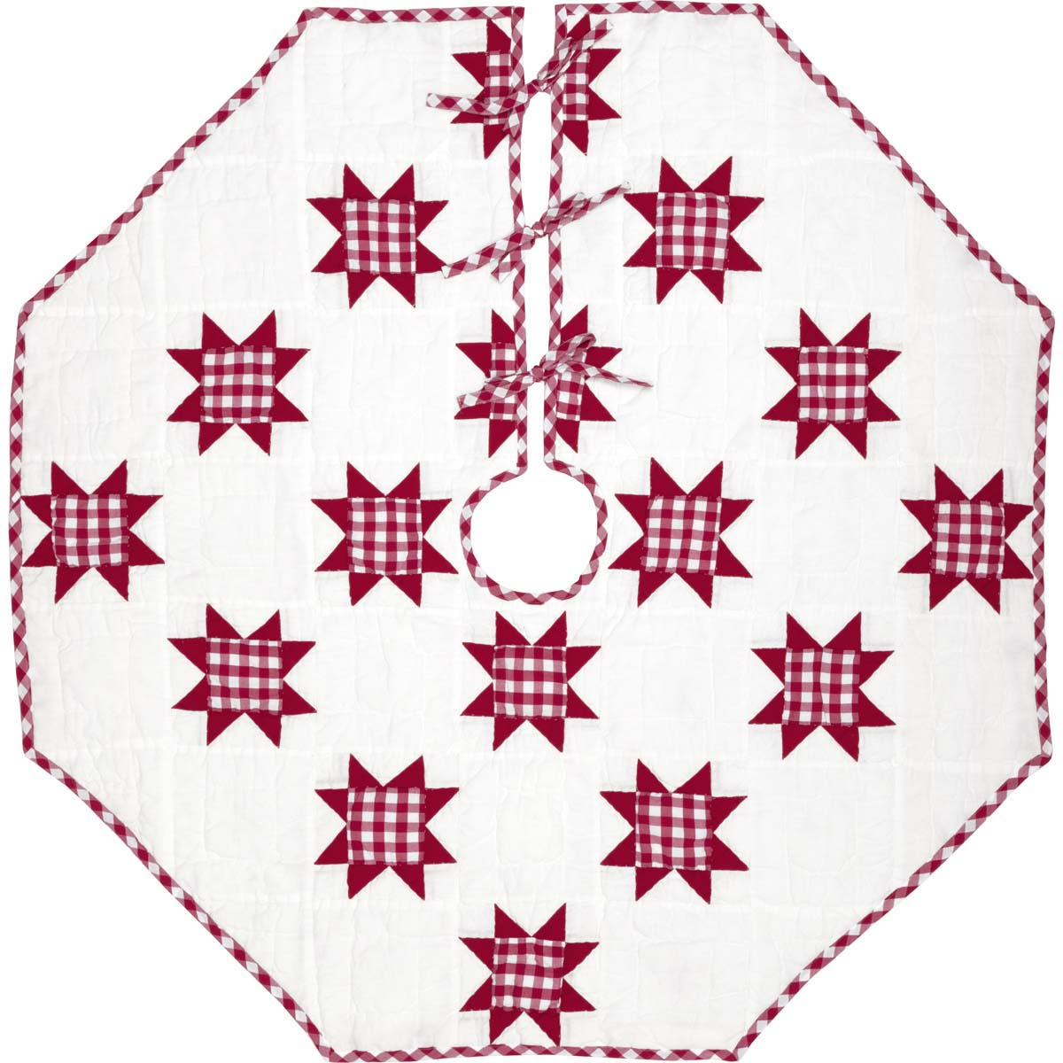 Emmie Red Patchwork Tree Skirt 48