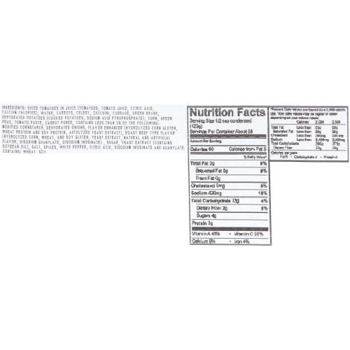 HEINZ CHEF FRANCISCO Light Vegetarian Vegetable Soup, 4 lb. Tub (Pack of 4)