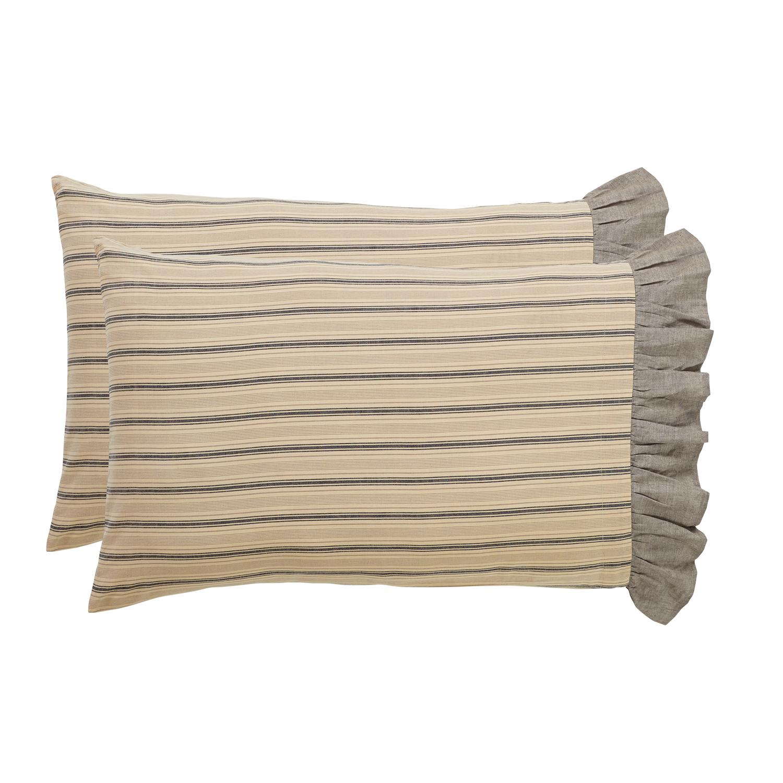 Sawyer Mill Charcoal Standard Pillow Case Set of 2 21x30