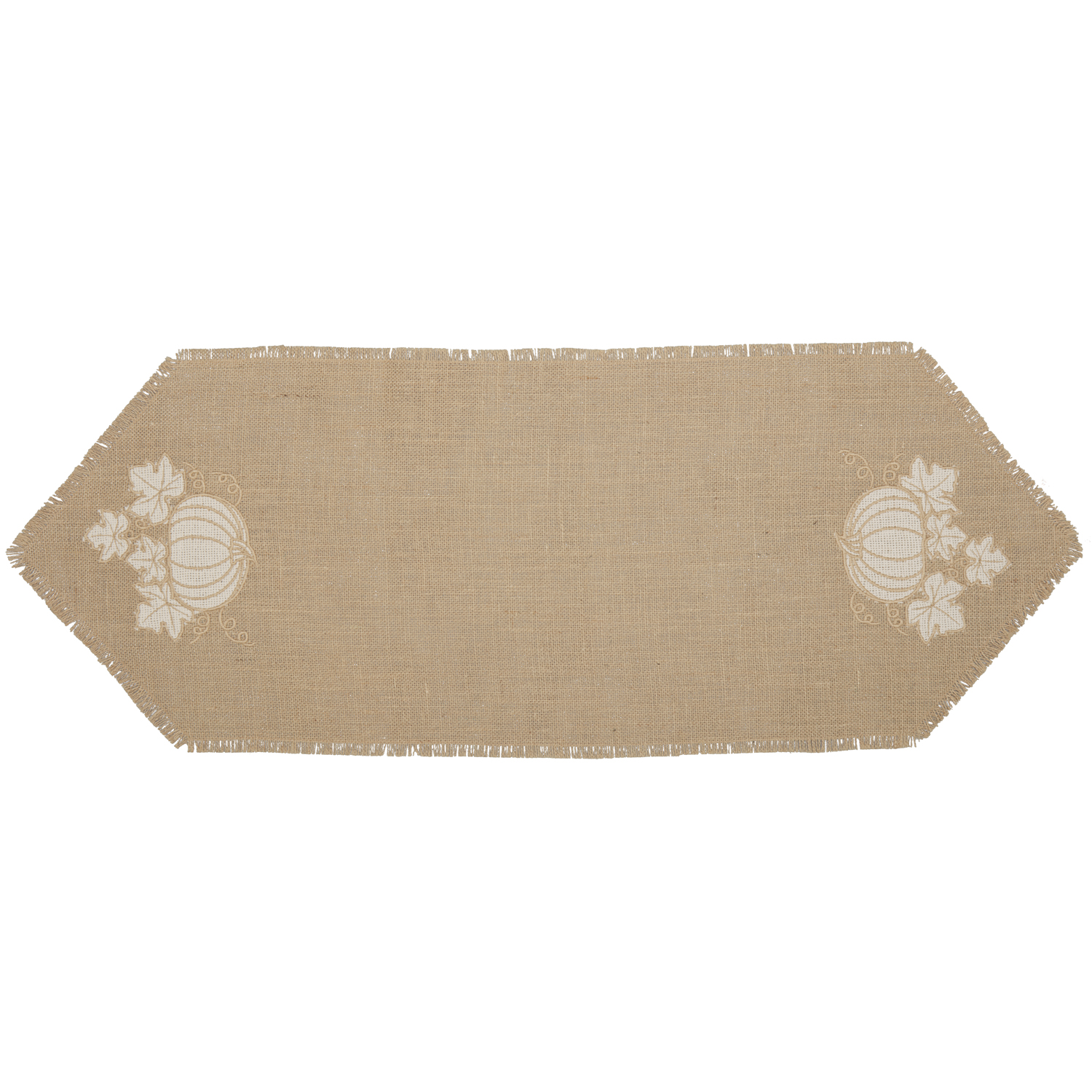 Jute Burlap Natural Pumpkin Runner 13x36