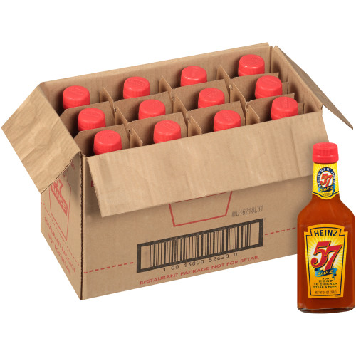 HEINZ 57 Sauce Bottle, 10 oz. Bottle (Pack of 12)