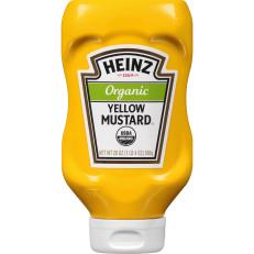 Heinz Organic Yellow Mustard, 20 oz Bottle image
