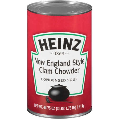 HEINZ New England Clam Chowder Soup, 50 oz. Can, (Pack of 12)