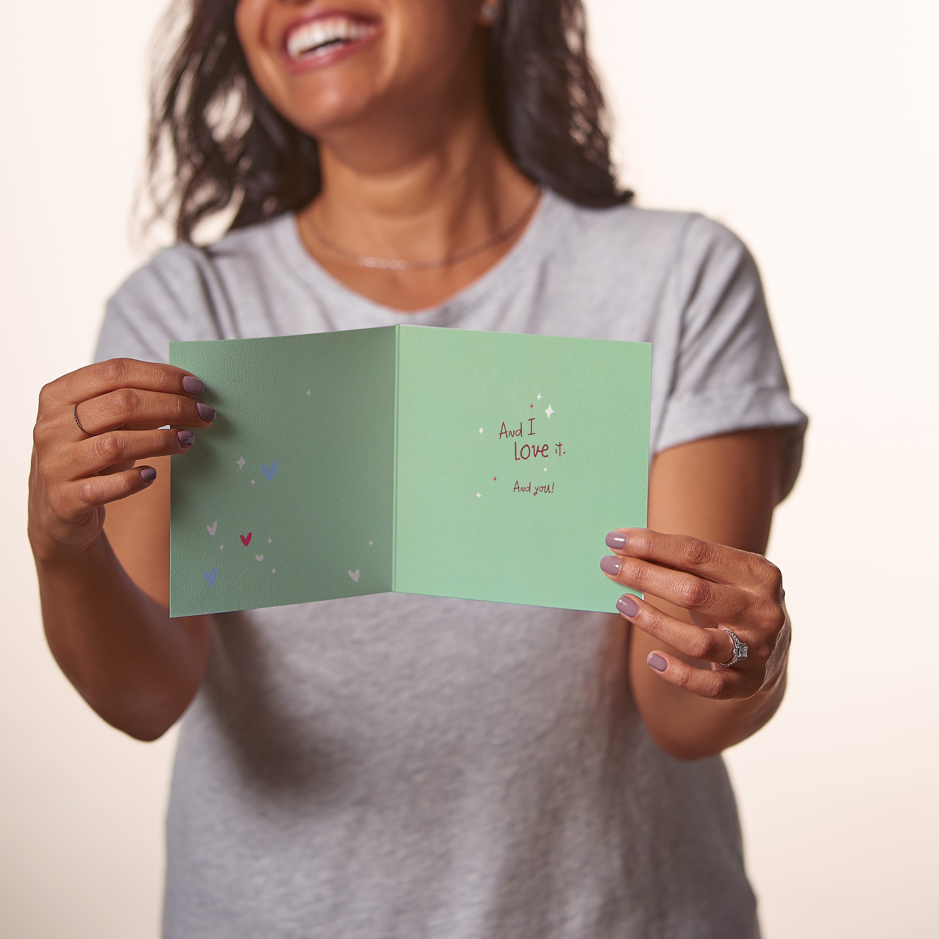 Obnoxiously Cute Greeting Card for Couple - Engagement, Wedding, Anniversary image
