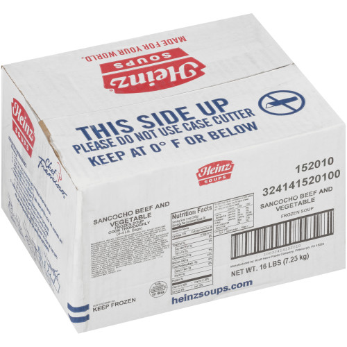 HEINZ CHEF FRANCISCO Sancocho Beef & Vegetable Soup, 4 lb. Bag (Pack of 4)