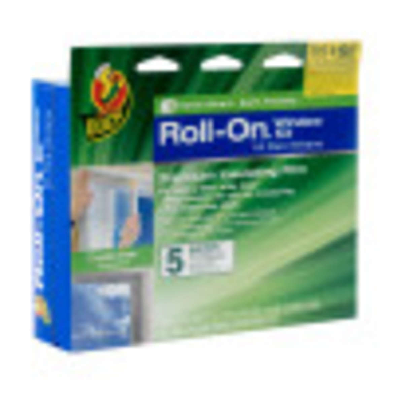 Duck® Brand Roll-On® Window Insulation Film Kit - Indoor, 5 pk, 62 in. x 200 in. Image