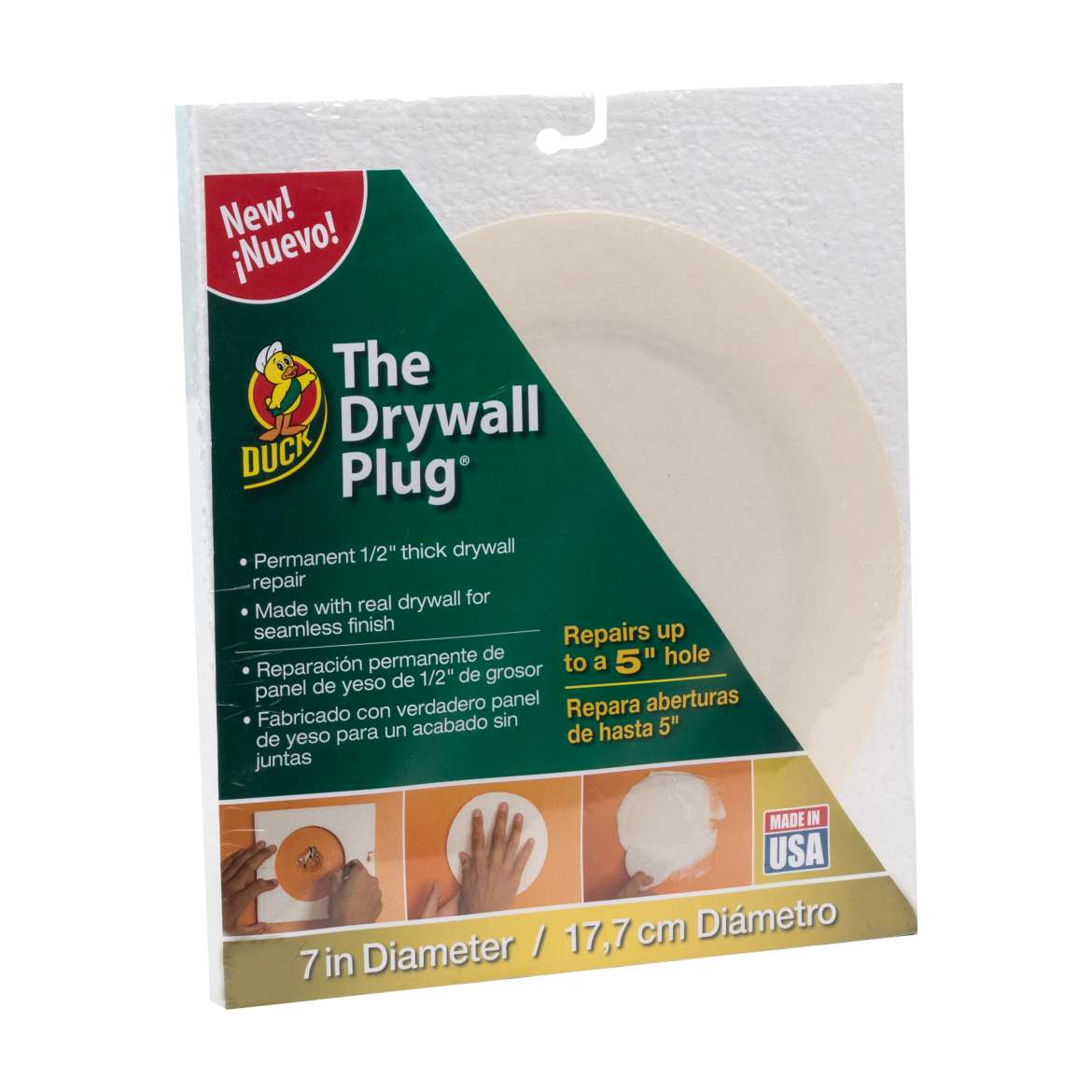 Duck® Brand The Drywall Plug - White, 7 in. Image
