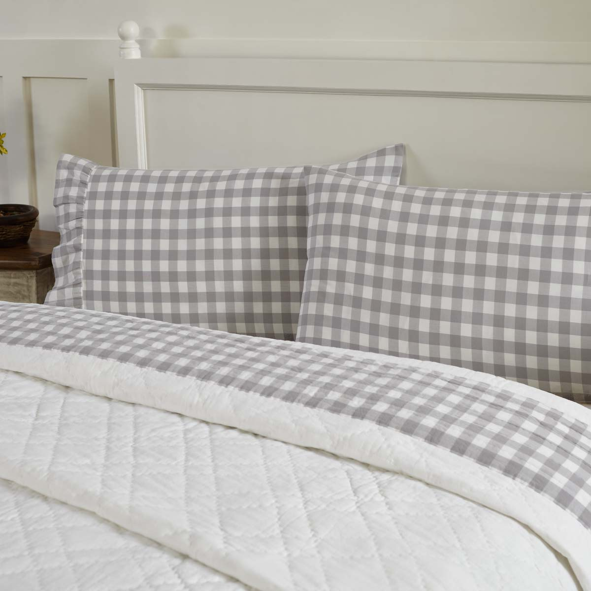 Annie Buffalo Grey Check Standard Pillow Case Set of 2 21x30